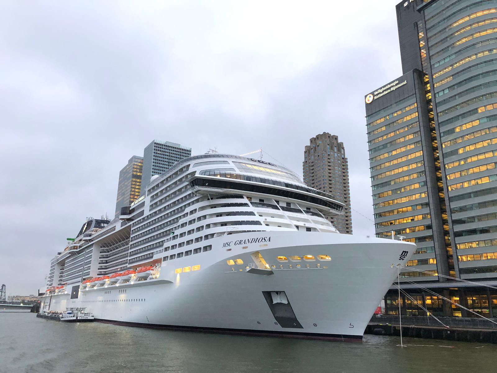 MSC Grandiosa in the Port of Rotterdam